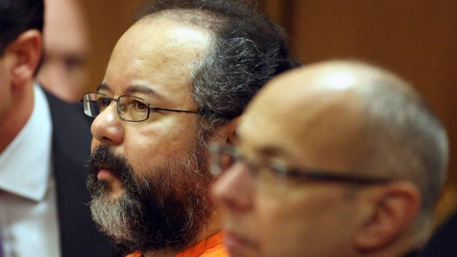 Ariel Castro, de 53 anos, condenado a prisão perpétua sem liberdade condicional, em Cleveland, Ohio