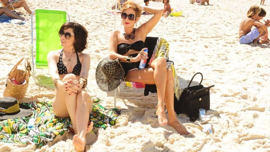 As amigas fazem quase tudo juntas, como ir à praia