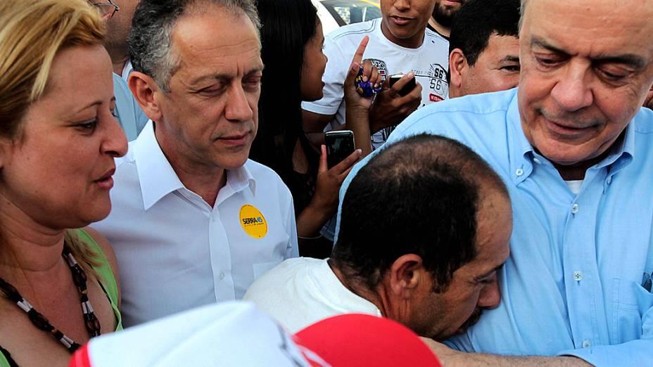 José Serra, candidato do PSDB à Prefeitura de São Paulo, durante campanha em Parelheiros, na zona sul da cidade