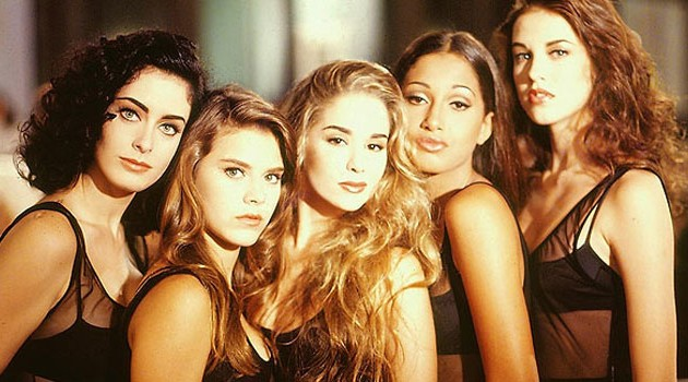 Claudia Rangel, Carolina Dieckmann, Danielle Winits, Camila Pitanga e Luana Piovani em 'Sex Appeal', de 1989