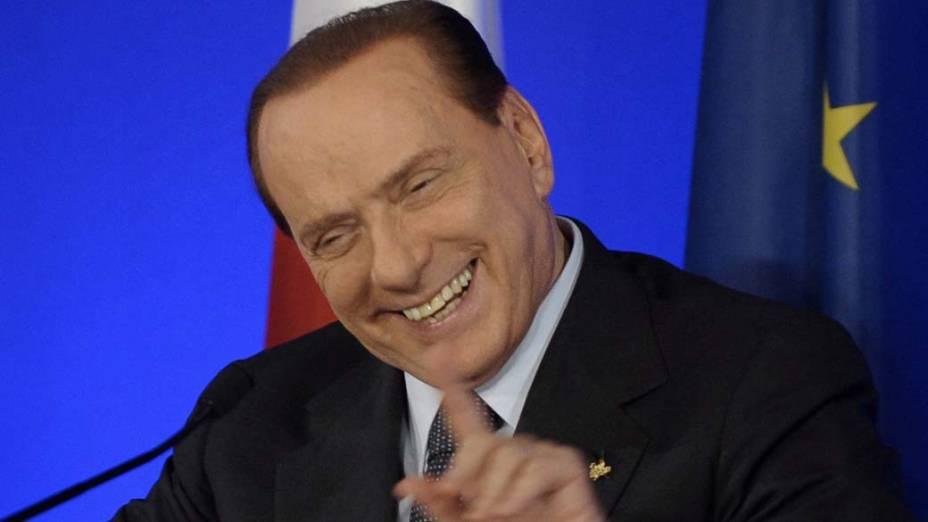 Silvio Berlusconi durante reunião do G20 em Cannes, França
