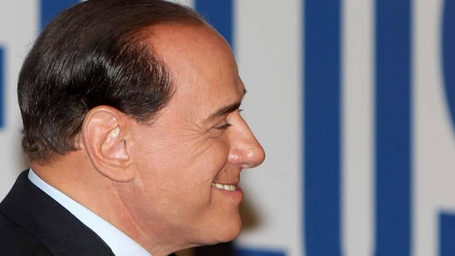 Silvio Berlusconi comemora vitória nas eleições em Roma, na Itália
