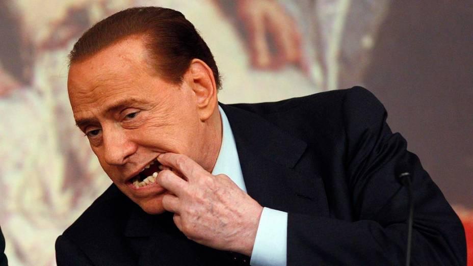 Silvio Berlusconi em Roma, em fevereiro de 2011