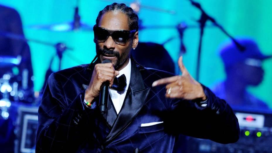 Snoop Dogg durante show em Los Angeles, em 2011