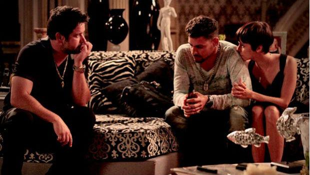 Tufão conversa com Nina e Jorginho