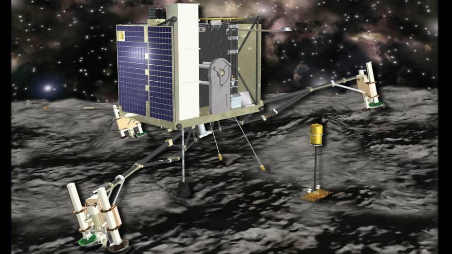 Perspectiva artística da sonda Rosetta