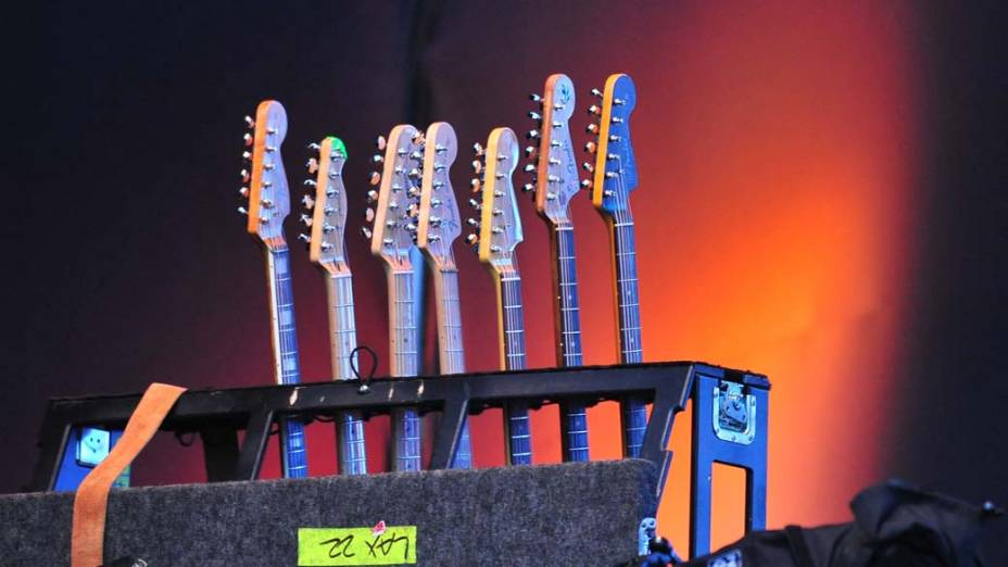 Show da banda Sonic Youth no palco Energia & Consciência, no último dia do festival SWU em Paulínia, em 14/11/2011