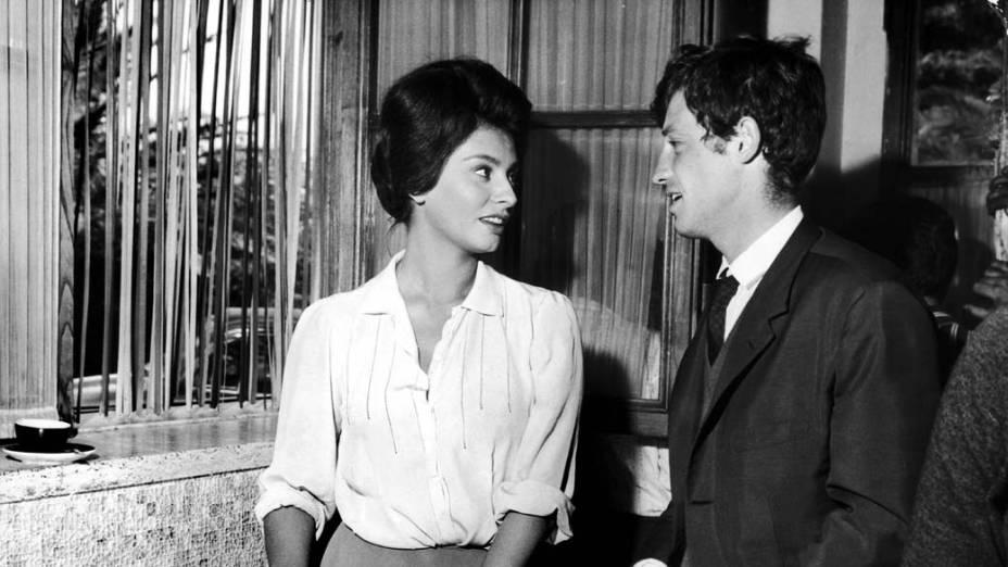 A atriz em cena do filme Duas Mulheres, de 1960, que lhe rendeu o Oscar de melhor atriz