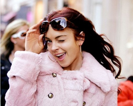 Lindsay Lohan em cena de <em>Sorte no Amor</em>, de 2006