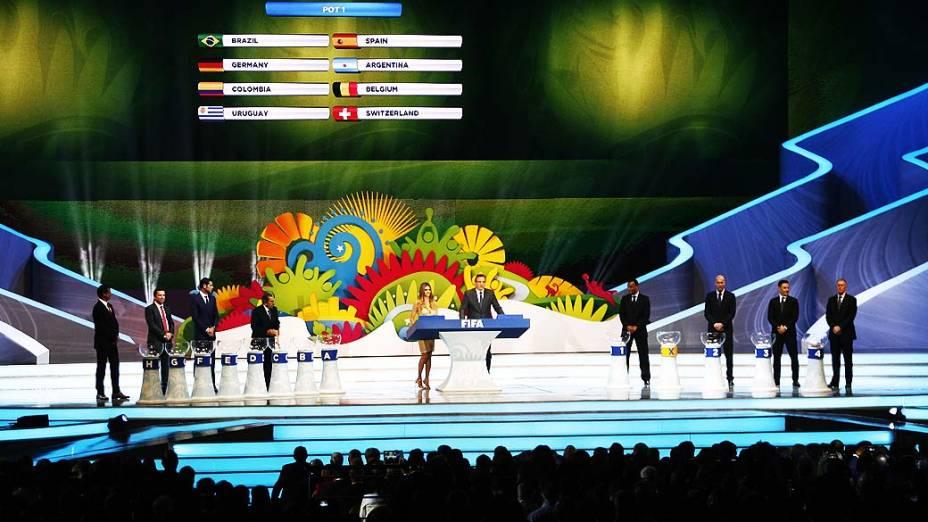 Cerimônia do sorteio dos grupos da Copa de 2014