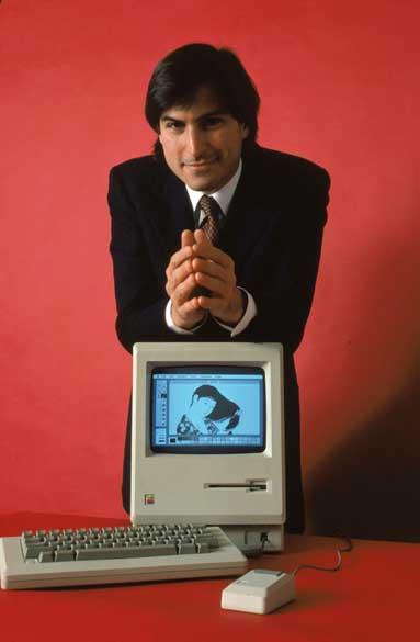Steve Jobs apresenta o computador Macintosh 128K, 1984<br><br>