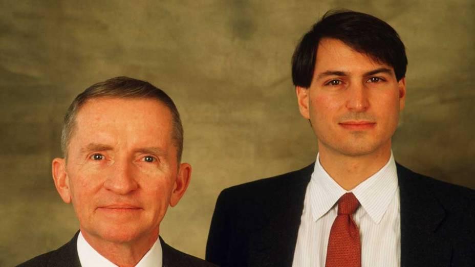 Steve Jobs e Ross Perot, janeiro de 1987