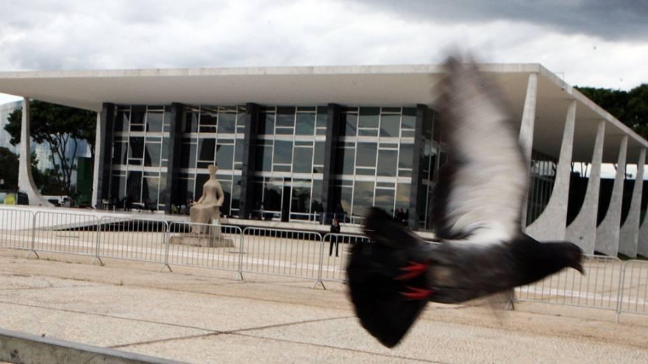 Supremo Tribunal Federal (STF), em Brasília, onde ocorre sessão e julgamento do processo do mensalão e dosimetria das penas dos condenados, em 14/11/2012