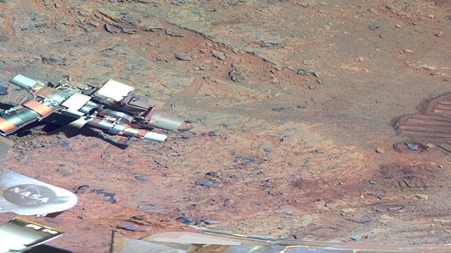<p>Opportunity passou quatro meses em missão pelo Greeley Haven, período em que fez os registros das imagens</p>