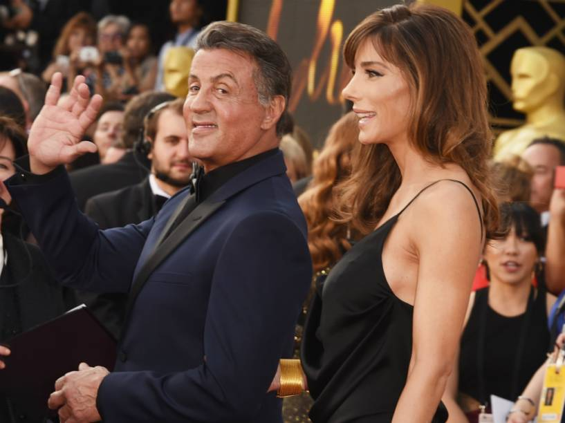 Sylvester Stallone e Jennifer Flavin no Oscar 2016