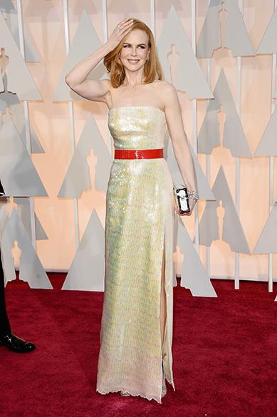 Nicole Kidman no tapete vermelho do Oscar 2015