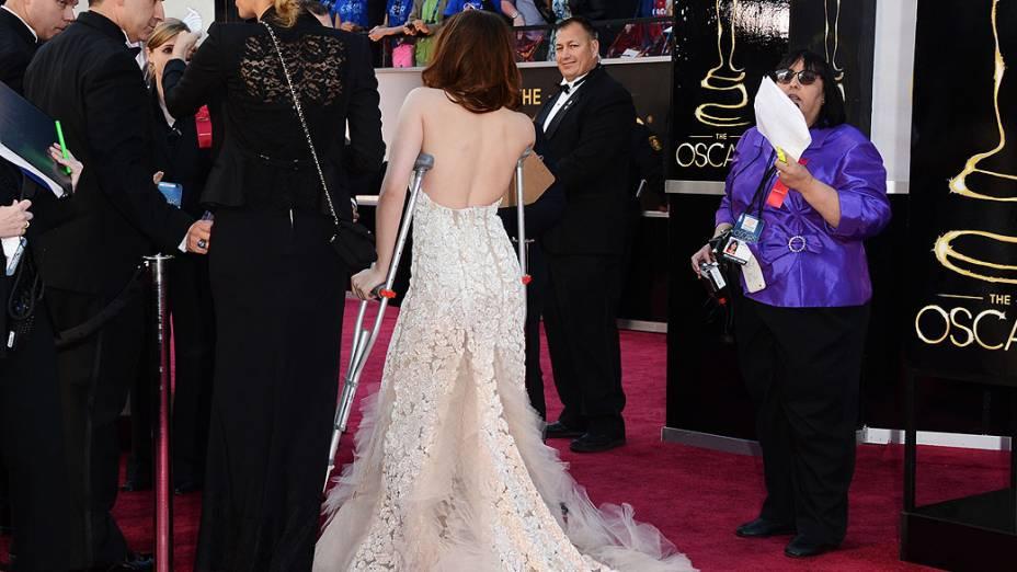 Kristen Stewart na chegada ao Oscar 2013
