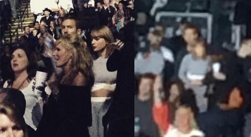 Taylor Swift e Calvin Harris, juntos em show