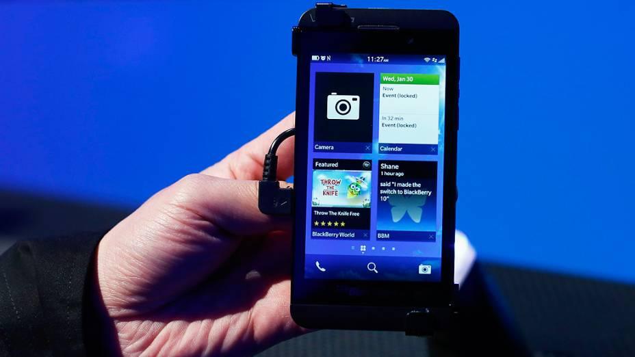 Lançamento do novo Blackberry RIM 10, em Nova York