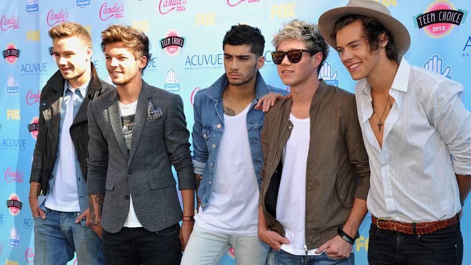 One Direction durante à premiação do Teen Choice Award, em Los Angeles