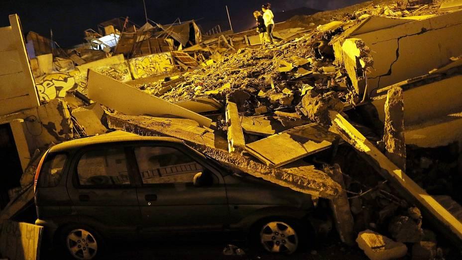 Desabamento na cidade de Iquique, no Chile, foi causado por forte tremor de terra