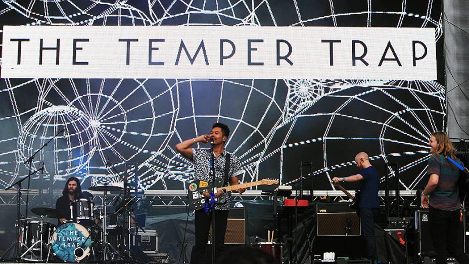 A banda australiana The Temper Trap durante show no Lollapalooza