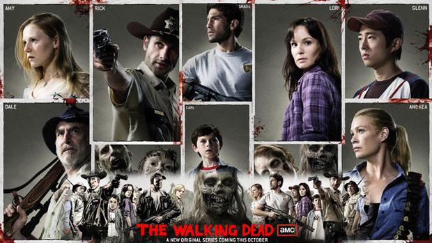 Cartaz oficial de divulgação da nova série da AMC, The Walking Dead