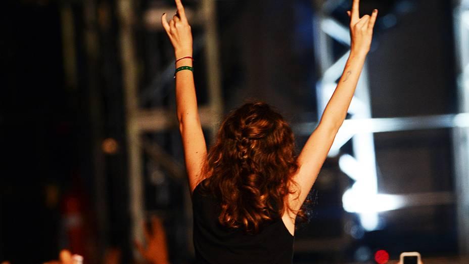 Público durante apresentação do The Killers no Lollapalooza