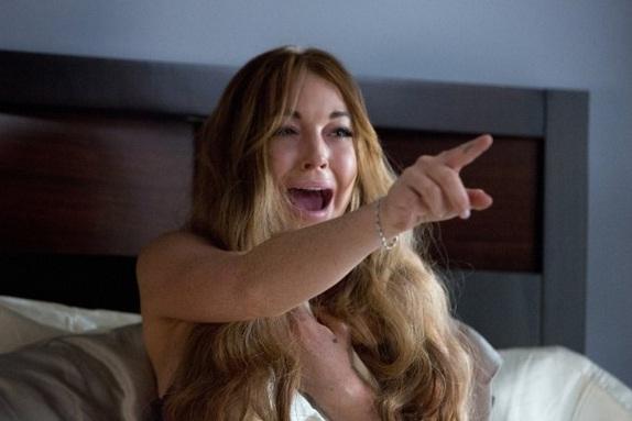 Lindsay Lohan em cena de <em>Todo Mundo em Pânico 5</em>, lançado em 2013