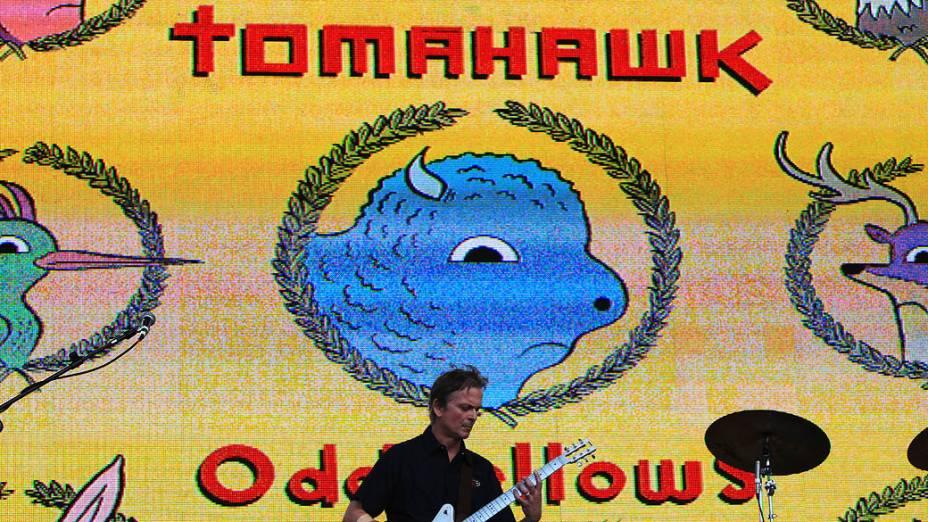 Apresentação do Tomahawk durante o segundo dia do Lollapalooza, em São Paulo