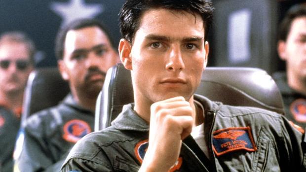 Tom Cruise no primeiro filme, em 1986