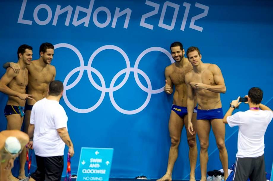 César Cielo no Centro Aquático do Parque Olímpico de Londres 2012