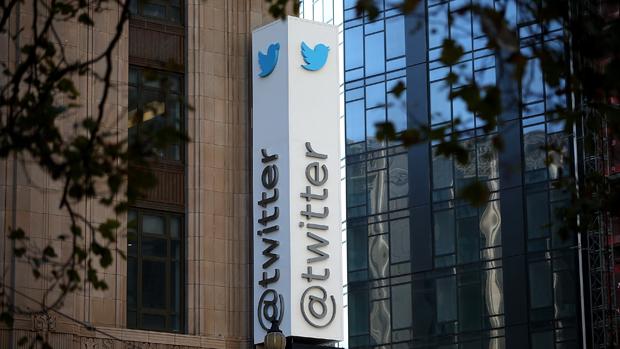 Fachada da sede do Twitter, em São Francisco, Estados Unidos