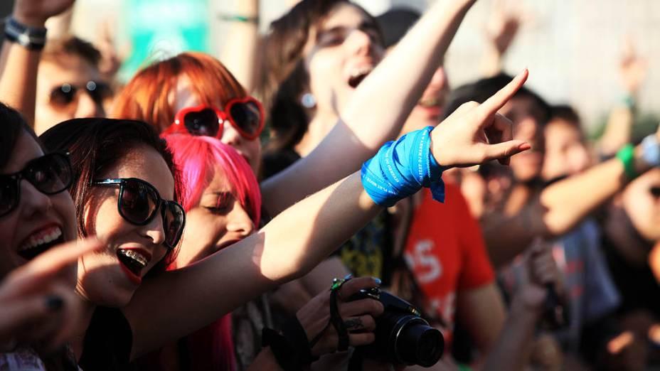 Público do segundo dia do festival Lollapalooza, em São Paulo