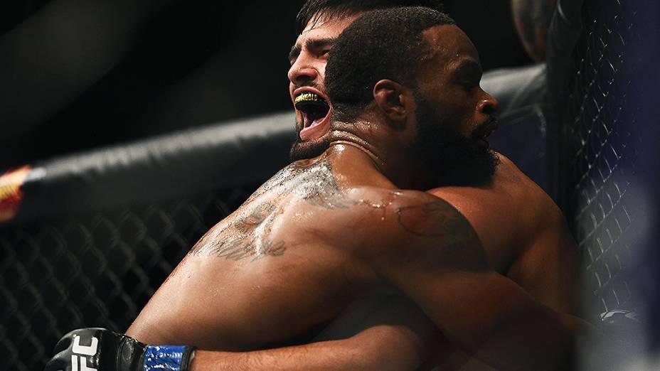 Tyron Woodley vence Kevin Gastelum, em combate válido pelos meio-médios no UFC 183 em Las Vegas