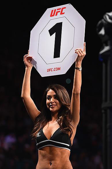 A ring girl Arianny Celeste no UFC 183, em Las Vegas