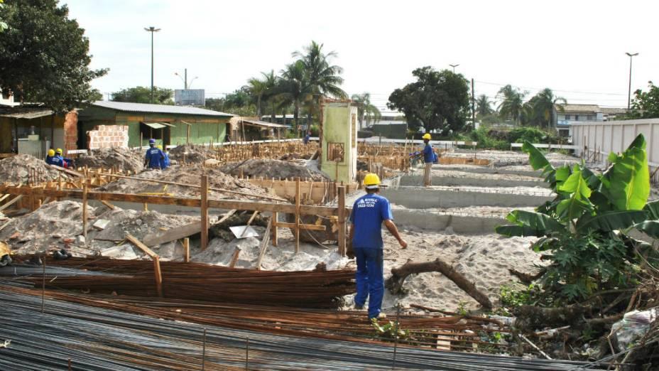 Obras no campus da Universidade Federal Fluminense (UFF) em Rio das Ostras