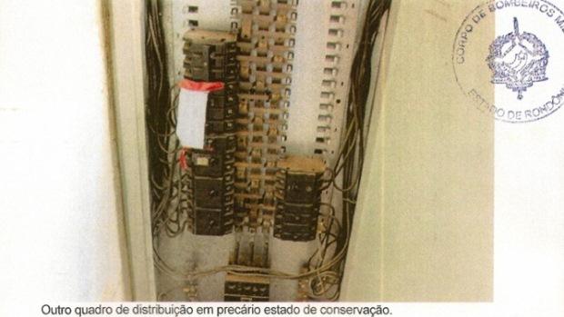 Laudo do Corpo de Bombeiros sobre as condições de prédios da Universidade Federal de Rondônia (Unir)