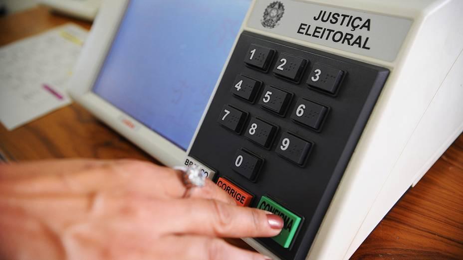Urnas eletrônicas que serão usadas nas eleições de 7 de outubro