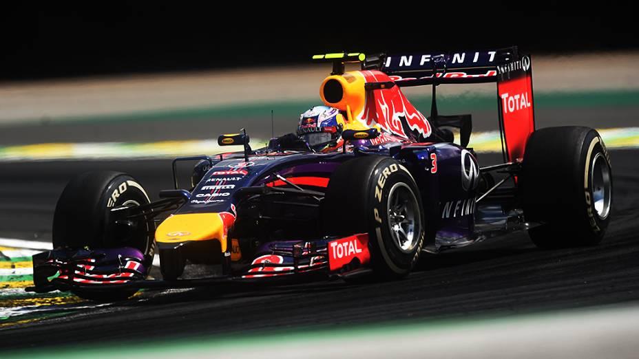 Sebastian Vettel da Red Bull no GP Brasil de Fórmula 1