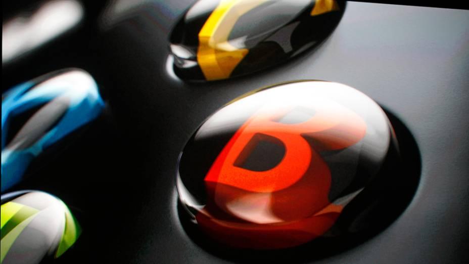 Detalhe do joystick do novo Xbox One apresentado pela Microsoft durante evento em Redmond, Washington