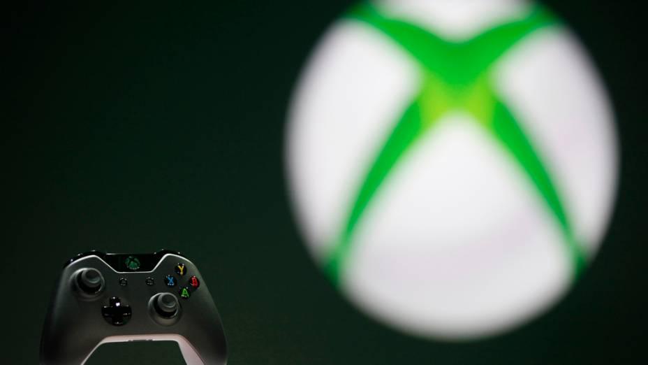 Joystick do novo Xbox One apresentado pela Microsoft durante evento em Redmond, Washington