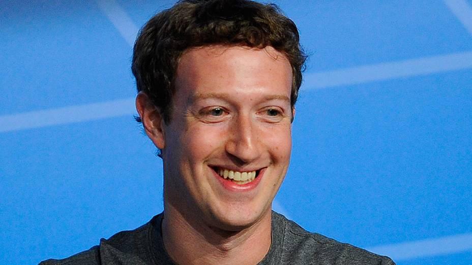 Mark Zuckerberg durante o Mobile World Congress 2014, na Espanha