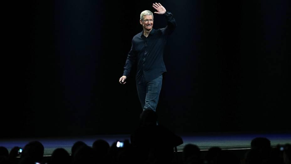 Tim Cook, CEO da Apple, durante o WWDC 2014, em São Francisco