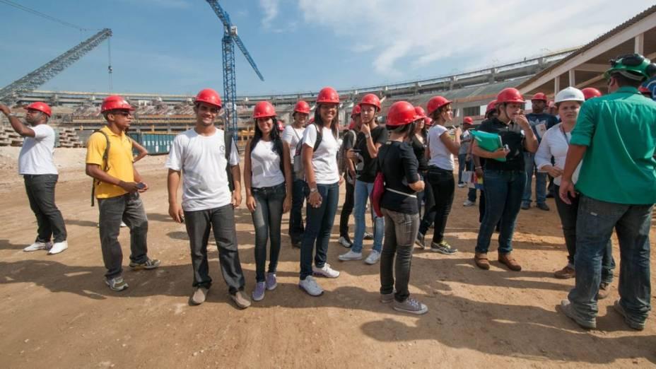 Visitação pública às obras do Maracanã, no Rio de Janeiro