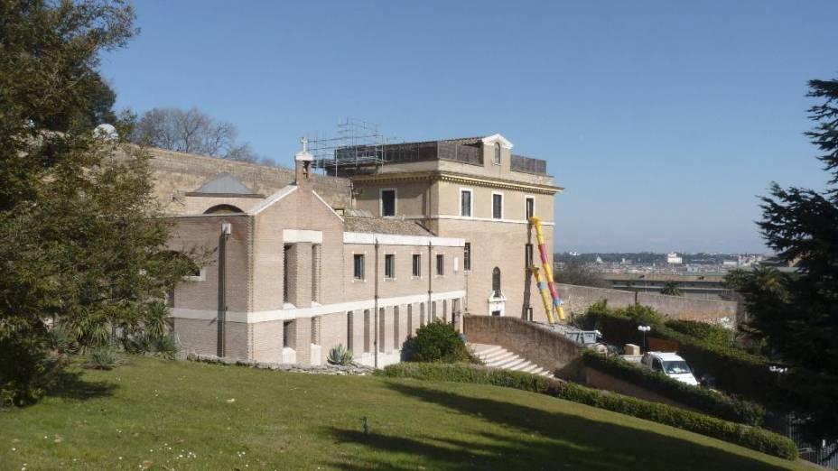 Vista do Mosteiro de Mater Ecclesia, no Vaticano, escolhido por Bento XVI para ser sua residência definitiva após a renúncia