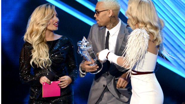 Demi Lovato no VMA, premiação da MTV americana, em 2012