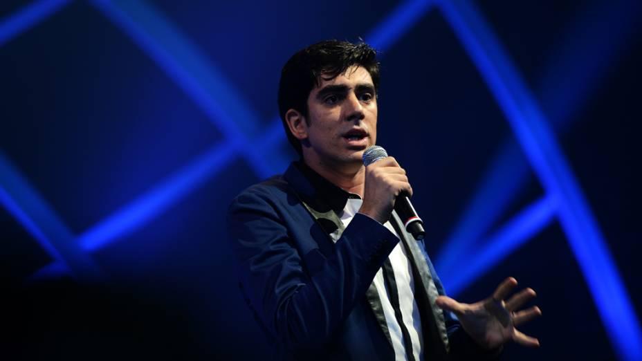 Marcelo Adnet durante o VMB 2012