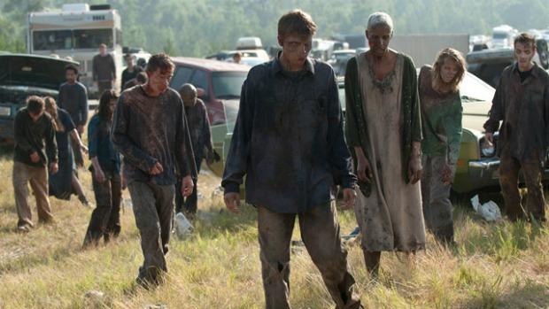 Cena da série <em>The Walking Dead</em>