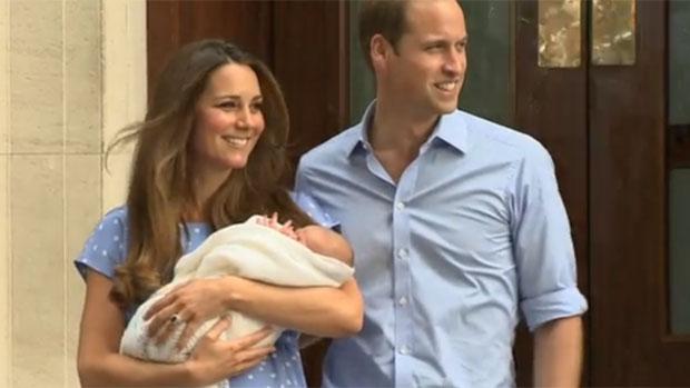 Kate e William apresentam o bebê real